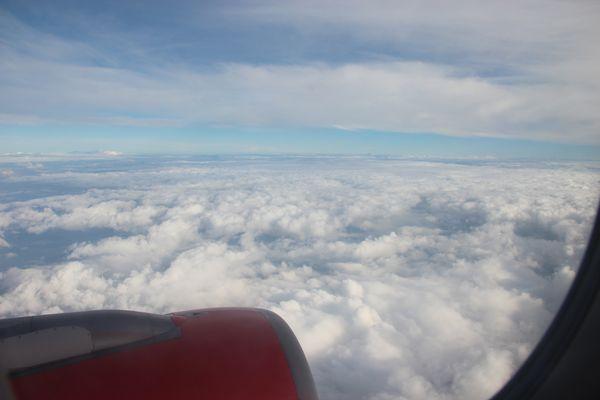 Полет в самолете